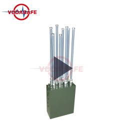 120W 8 antennes signal brouilleur de sac à dos peuvent être utilisés dans Manpack 2g 3g 4G WiFi GPS militaires brouilleur de téléphone cellulaire
