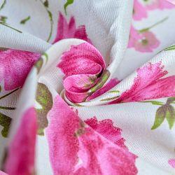 Nouveau mode de 100 % polyester tissé de petites fleurs rouge disperser IMPRIMÉ Tissu drap de lit
