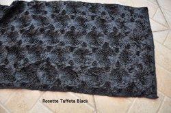 Il nero del corridore del raso della rosetta del corridore del taffettà della rosetta