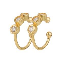 بدون إكراه مجوهرات كواف الأذن القابلة للضبط حجر الراين الصلب المقاوم للصدأ مجموعة المحاجر Helix