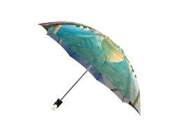 Tajmahal Indien Secinic Spot Printed Design 3 Falz Manuelle Funktion Regenschirm Für Unterwegs