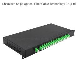 ファイバー光学CWDM Mux 18のチャネルLC/Upcの二重ファイバー