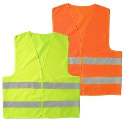 سترة أمان عاكسة باللون البرتقالي والأصفر عالية الرؤية