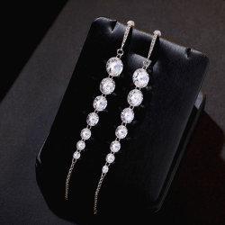 Stile lungo Pendant&#160 di temperamento degli orecchini Pendant dell'argento sterlina;