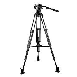 E-Bild zweistufiger video Aluminiumkamera-Stativ-Installationssatz mit mittlerer Spreizer (Z.B. 06A2)