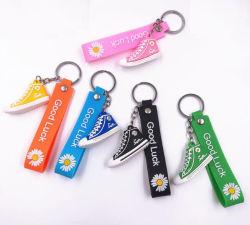3D 연약한 고무 PVC 실리콘 기념품 단화 열쇠 고리 Keychain