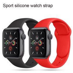 Correia de relógio em silicone de 65 cores, bracelete, série Iwatch 38 40 Correia de relógio de 42 44 mm para o Apple Watch Smart Watch Sport Pulseira pulseira de borracha correia de pulso