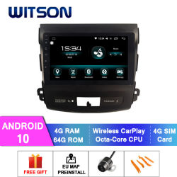 Witson Android 10 Car DVD Player Universal for Mitsubishi 2006-2012 『 Outlander 4GB RAM 64GB Flash Big Screen in Car DVD 』 プレーヤー