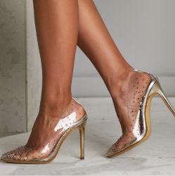 Nouveau PVC haut talon sandales en plastique de couleur de haute qualité Splipper Chaussures femmes