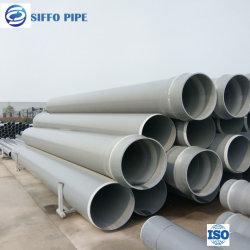 Tubo in PVC di alta qualità 355mm 400mm 450mm 500mm 560mm 630mm Tubo in plastica per acqua con tappo terminale con flangia a T a gomito Raccordo riduttore valvola a sfera collegamento per colla
