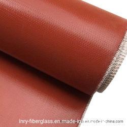 Résistance à la chaleur l'isolant en fibre de verre recouvert de caoutchouc de silicone ignifugé chiffon