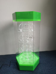 Voyants LED la rotation de l'acrylique montres Cabinet d'affichage