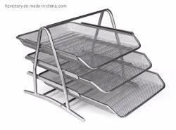 オフィスの文房具の金属線の鉄の机文書皿(VFT2-2)