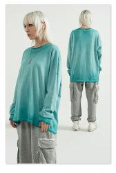 オーダーメイドの衣類は特大のフランスのテリープレーンコットンの服を洗った メンズ用 Vintage スウェットシャツ