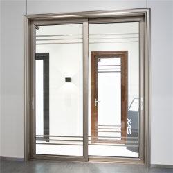 La partición de patio de la puerta de vidrio Puertas de metal moderno interior de China Proveedor