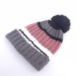Зимой теплым образом растянуть акриловый трикотаж головные уборы детей