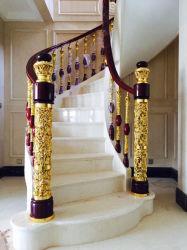 La scala diritta di galleggiamento dell'interno con lusso scava fuori la decorazione