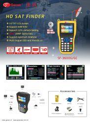 Gecen DVB-S2 HD Digital satellite Finder MPEG-2/MPEG-4 FTA Digital satellite Strumento ricevitore TV con schermo LCD da 3.5 pollici