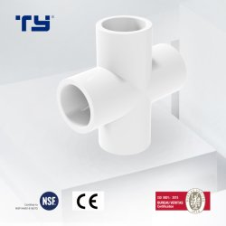 ASTM D2466 UPVC plástico padrão as conexões cotovelo do tubo de PVC 4 Tubo de forma transversal do conector