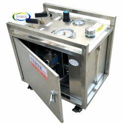 معدات مضخة اختبار الضغط الهيدروليكي صغيرة الحجم التي تعمل بالهواء للهيدروستاتيكية اختبار