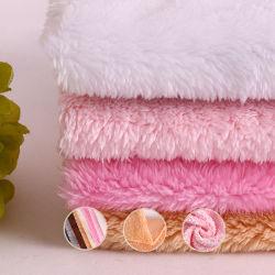 Tapizado en microfibra poliéster Faux Fur Velboa terciopelo Polar tejido de juguete