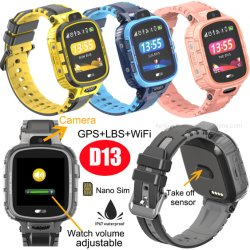 500 mAh grote batterij IP67 Real-Waterproof Smart GPS-trackinghorloge voor kinderen D13G