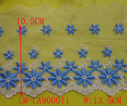Accesorios para prendas Bricolaje Trimming Europe Wholesale Knit Water Disuelto Lace Encaje Suizo tejido de encaje soluble 5cm-15cm algodón neto Encaje bordado