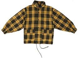 Желтого цвета черный и красный проверки соткана ткань вверх моды мужских пиджаков одежду