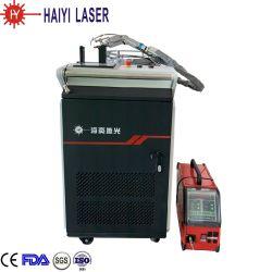 collegare automatico tenuto in mano della saldatrice del laser 1500W che alimenta la saldatura di laser della testa dell'oscillazione del condensatore della lega di alluminio