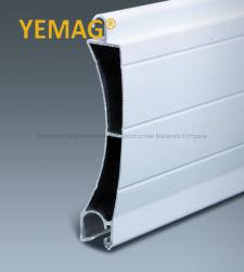 Rouleau de matériau d'obturation Profil en aluminium extrudé de Double couche 77mm de lamelles en bois pour le laminage porte de garage