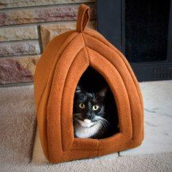 100% poliéster gato al aire libre la vivienda