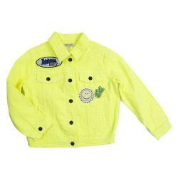 2021대량 가격대비 옷감 패션 레이디스 Vintagef 루어네센트 컬러 데님 진 재킷