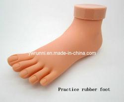 Modelo de prática de plástico de pé para prática de Arte de pregos Pedicure (NT-72)