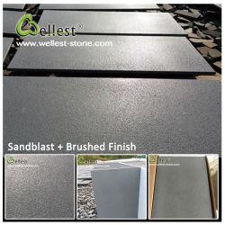 De zwarte Grijze Tegel van het Basalt van de Steen van de Lava Bluestone voor Betonmolens/het Bedekken/Vloer/Bevloering/de Bekleding van de Muur