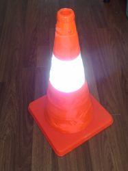 LED de aviso Recolhível Barreira de tráfego de dobragem do Cone do Cone de Segurança Rodoviária