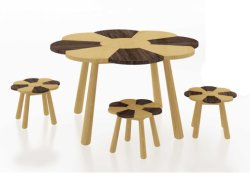 BambusKids Playing Table Game Table und Stool