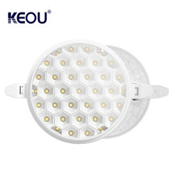 Keou New Smart Anti Glare 18W 24W 36W 원형 스퀘어 3D LED 램프 밝기 조절 가능 LED 패널 조명