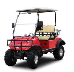 2 Lugares máquina agrícola levantado a caça carrinho de golfe com cesto storge