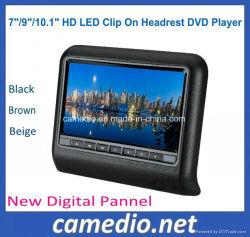 7/9/Clip LED HD de 10,1 pulgadas en el reposacabezas del coche activo Monitor con función de reproductor de DVD