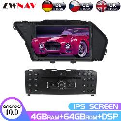 نظام الملاحة عبر نظام التشغيل ZwnawyAndroid 10 Multimedia Player الملاحة عبر شاشة IPS HD لـ Benz Glk Glk X204 Glk 300 Glk 350 قرص DVD للسيارة معالج الإشارة الرقمية للوحدة برأس سعة 4 جيجابايت و64 جيجابايت