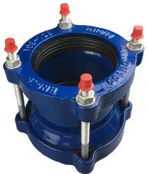 Universal large éventail souple de couplage de fonte ductile rapide pour tuyau joint