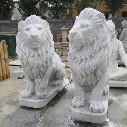 Dierlijke Beeldhouwwerk van het Standbeeld van de Leeuw van de Decoratie van de tuin het Openlucht Marmeren