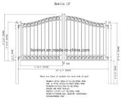 Bajo precio popular de hierro de buena calidad Drivway Gate