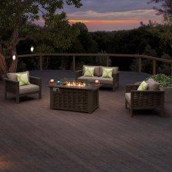 안뜰 가구 등나무 Setional 소파 알루미늄 화재 구덩이를 가진 옥외 정원 세트