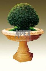 Potenciômetro de flores de pedra Jardim Pot no Material Sanstone