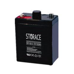 Герметичный свинцово-кислотный аккумулятор SR100-2 2V 100Ah аккумулятор