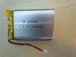 Batería de polímero de litio de alta calidad 103450 1800mAh para Audio, Tracker, GPS, con UL, CE IEC62133