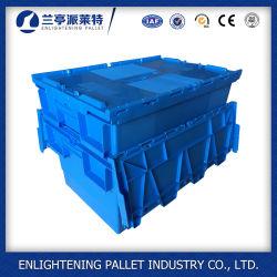 56L plástico Nestable Movendo Tote caixa com a SGS
