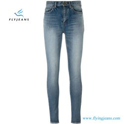 Het blauwe Denim van de Rek van de Dames van de Jeans van de Katoenen Vrouwen van het Mengsel Klassieke Magere (E.P. 419 van de Broek)