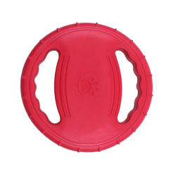 Dog Flying Disc Toy, Borracha Dog Toy resistente a mordidas Piscina Interactive arvorando o treinamento do disco Fetch Sound Maker Brinquedo Pet flutua na água Chew Toy12654 ESG